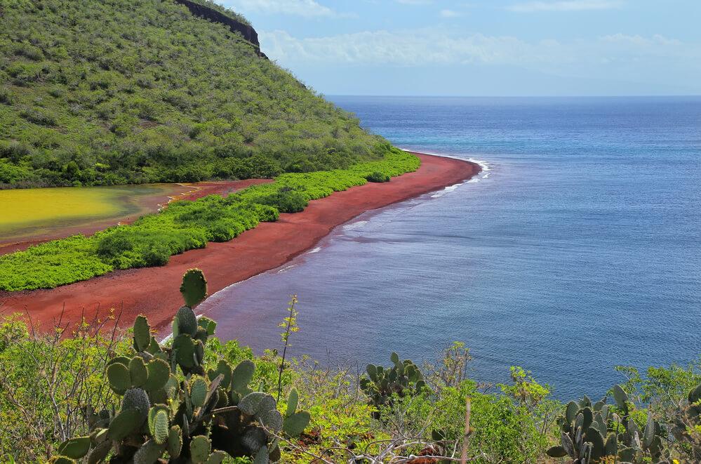 4 пляжі світу незвичних кольорів