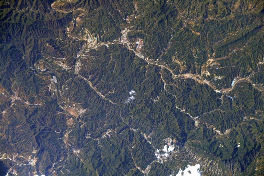 вид з космосу китайська стіна