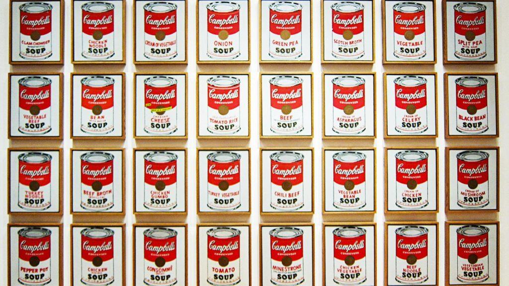 картини супових банок Campbell