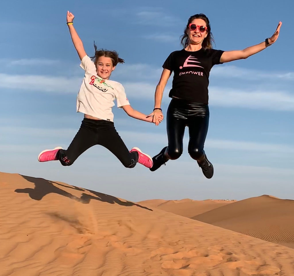 З донькою Іриною на відпочинку в Дубаї.