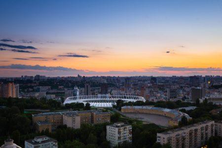олімпійський стадіон на закаті