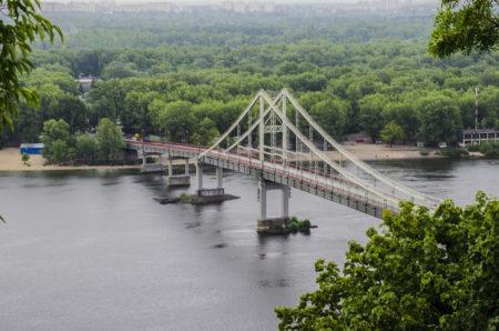 Киев, мост, труханов остров, днепр
