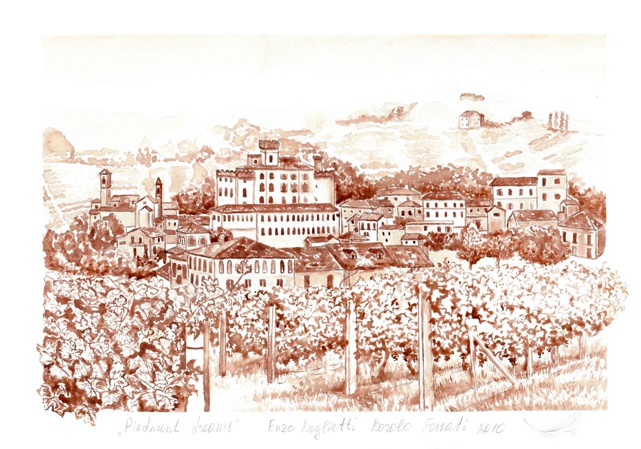 Piedmont dreams: картини, намальовані вином
