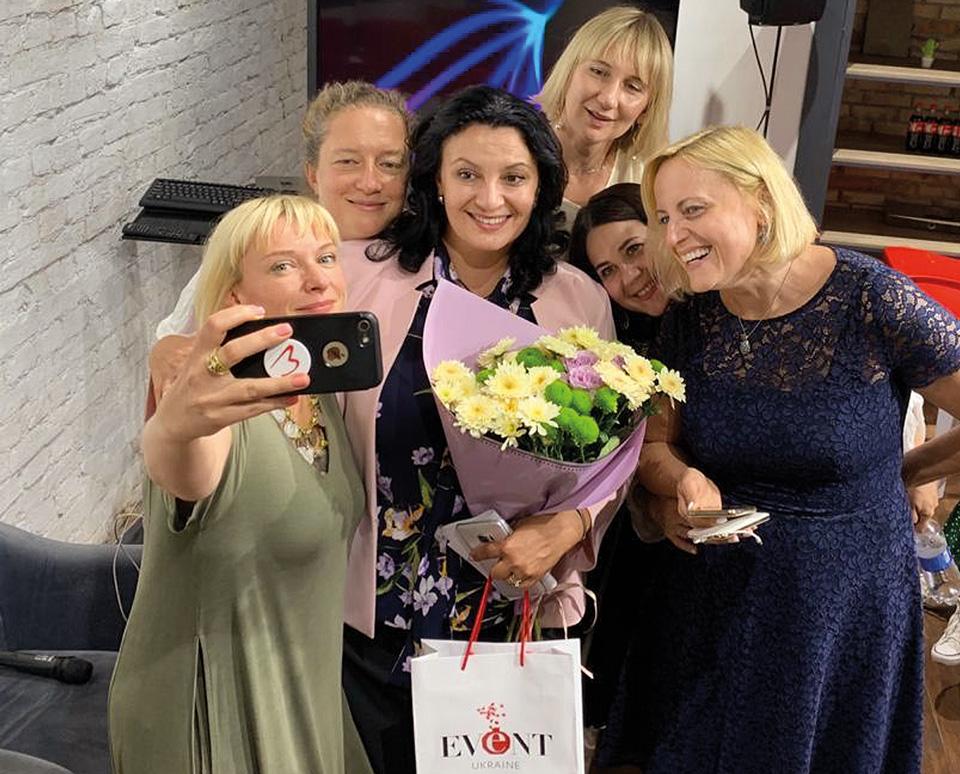 Іванна Климпуш-Цинцадзе з жінками