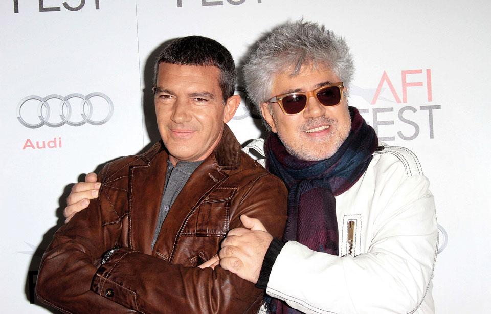 Педро Альмодовар и Антонио Бандерас