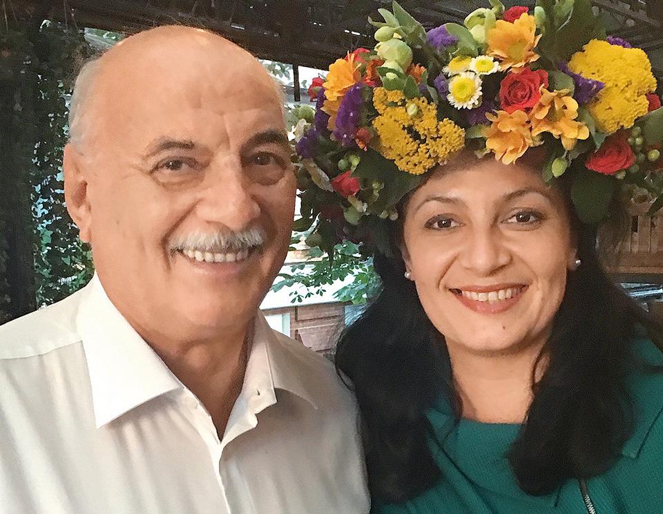 Іванна Климпуш-Цинцадзе, з батьком Орестом Климпушем