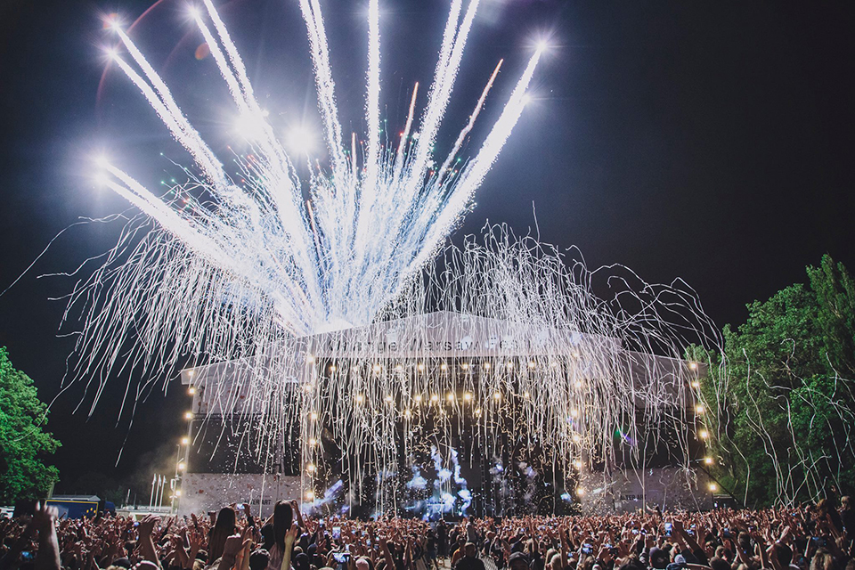 феєрверк на Orange Warsaw Festival '2019