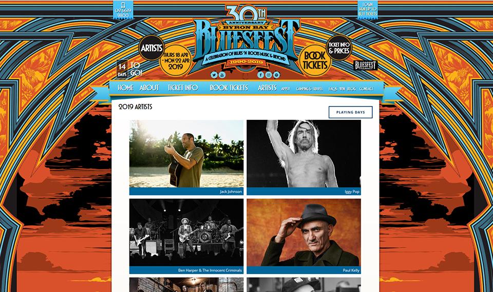 Музичний фестиваль Bluesfest у Байрон-Бей