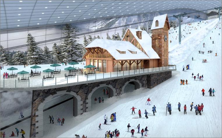 критий гірськолижний комплекс Wanda Indoor Ski Park
