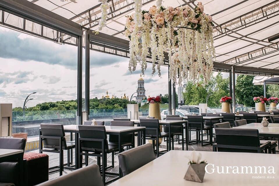 ресторан Guramma Modern Asia з видом на Київ